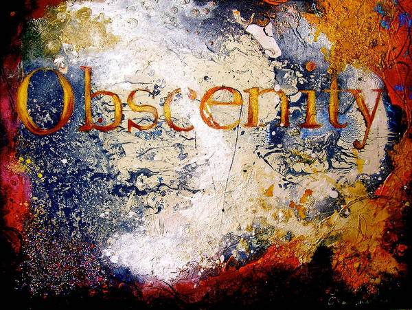 Wall Art - Painting - Obscenity by Laura Pierre-Louis