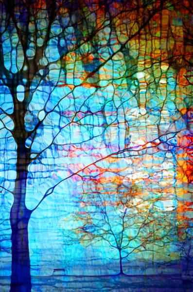 Obscured In Blue Art Print