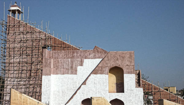 Photograph - Observatory Under Repair, Jaipur 2007 by Chris Honeyman