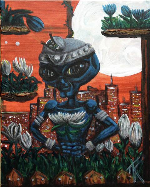 Painting - Observent Alien by Similar Alien