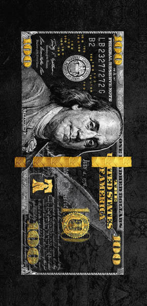 Money Digital Art - Obsidian Franklin by Canvas Cultures