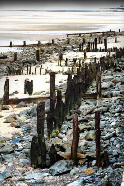 Obsolete Sea Defences At Llanfairfechan Art Print