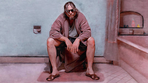 Wall Art - Painting - Obviously You Are Not A Golfer - The Big Lebowski by Joseph Oland
