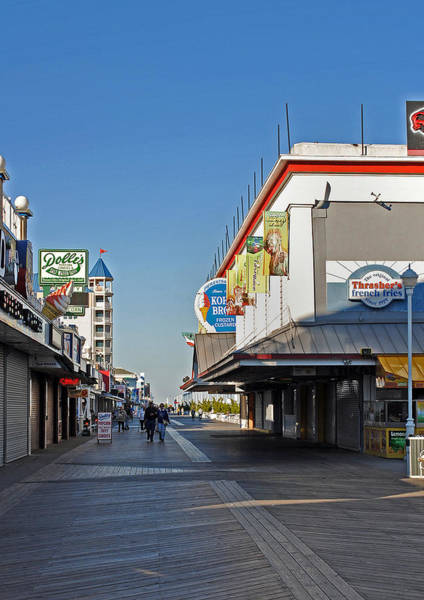 Midway Photograph - Oc Boardwalk by Skip Willits