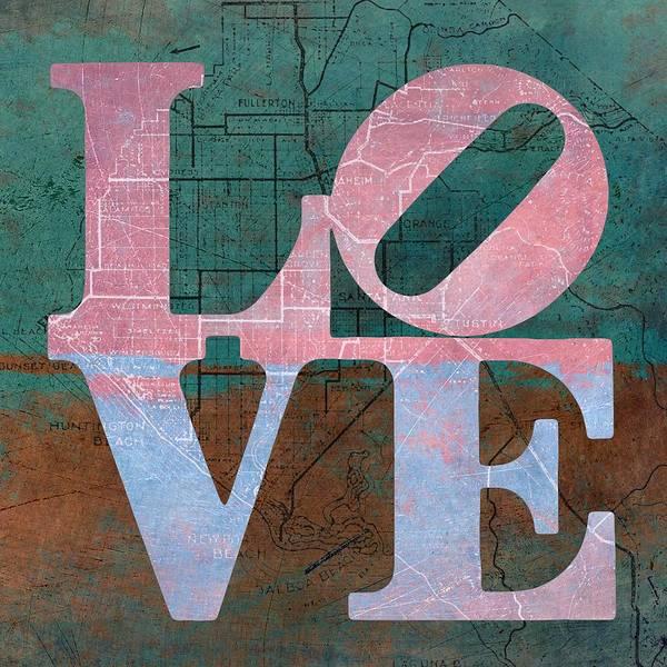 Orange County Digital Art - Oc Love V5 by Brandi Fitzgerald