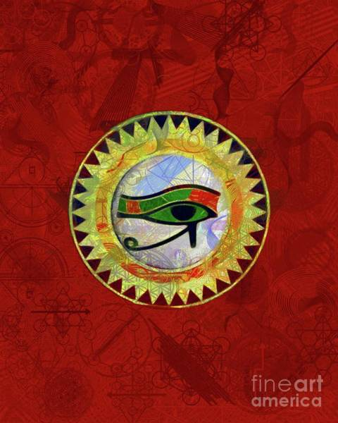 Wall Art - Painting - Occult Eye Of Ra by Pierre Blanchard