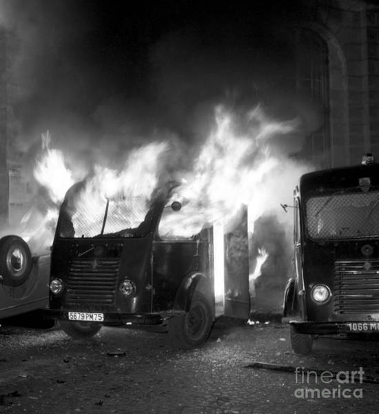 The Grey Photograph - Occupations Of The Sorbonne, May 1968 by French School