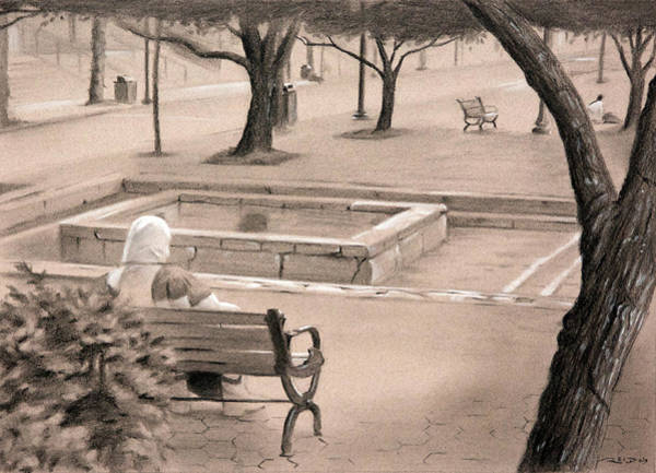 Drawing - Occupy Front Street by Christopher Reid