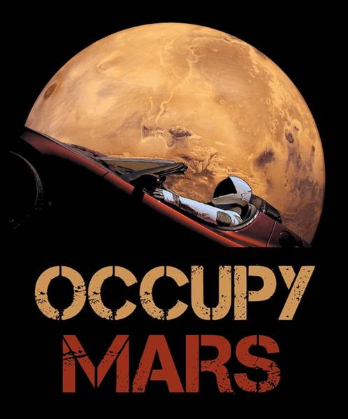Wall Art - Mixed Media - Occupy Mars by Filip Hellman