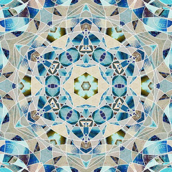 Symmetrical Digital Art - Ocean Breeze - M07 by Variance Collections
