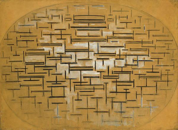 De Stijl Painting - Ocean 5 by Piet Mondrian