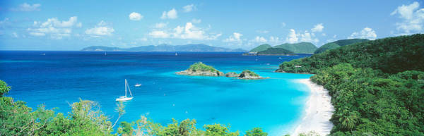 Anchor Photograph - Ocean, Beach, Water, Trunk Bay, St by Panoramic Images