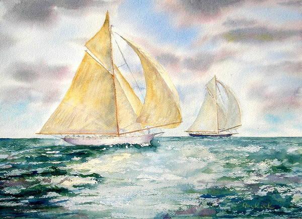 Painting - Ocean Belles by Diane Kirk