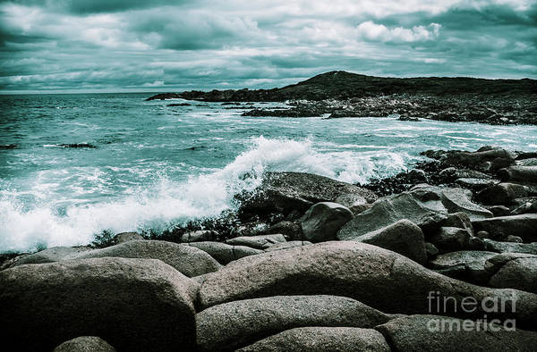 Ocean Blue Granville Harbour Art Print