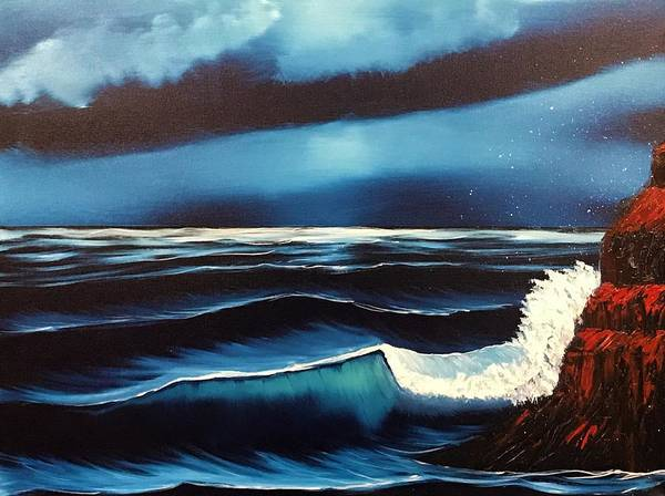 Wall Art - Painting - Ocean Blue by Willy Proctor