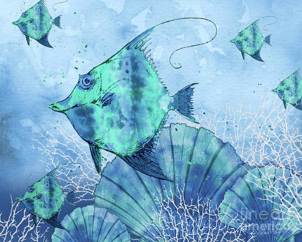 Wall Art - Painting - Ocean Blues-a by Jean Plout