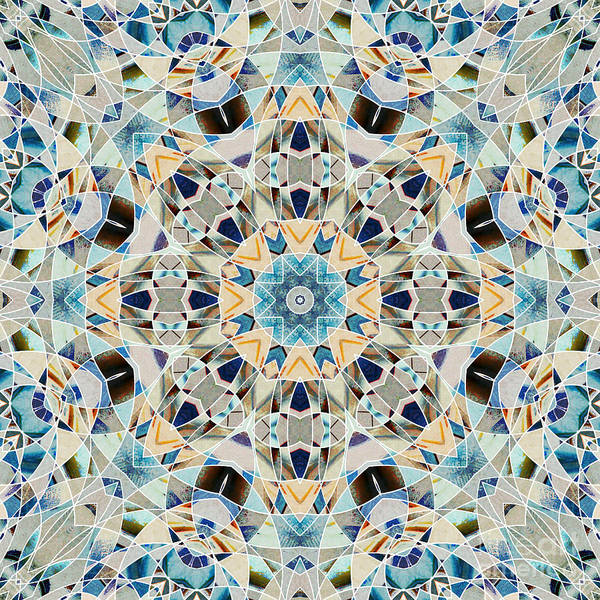 Symmetrical Digital Art - Ocean Breeze 03 by Variance Collections