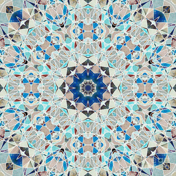 Symmetrical Digital Art - Ocean Breeze - 04 by Variance Collections