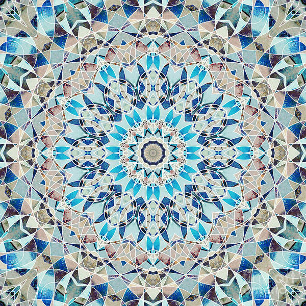 Symmetrical Digital Art - Ocean Breeze - M01  by Variance Collections