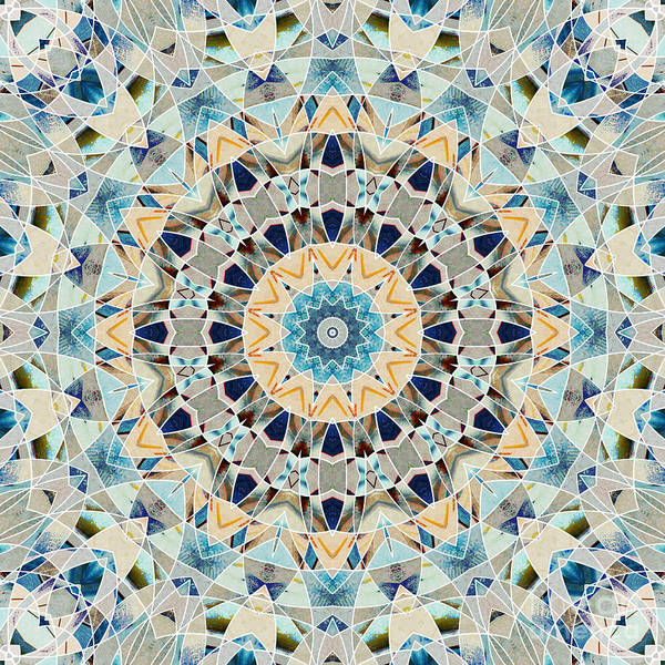 Symmetrical Digital Art - Ocean Breeze -m02 by Variance Collections