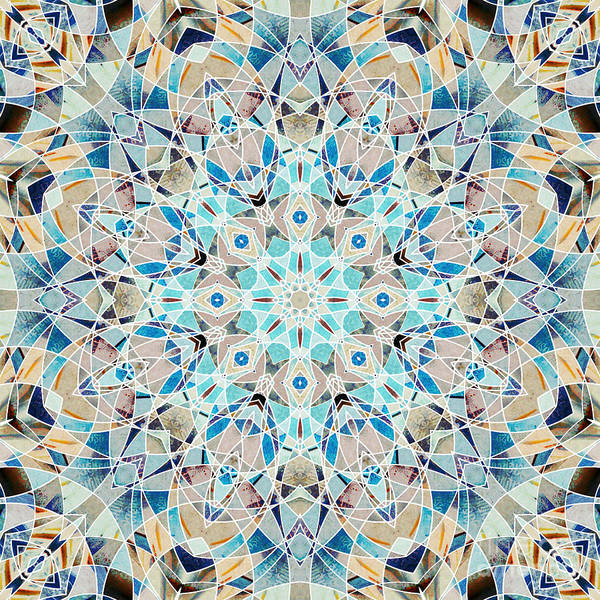 Symmetrical Digital Art - Ocean Breeze - M05 by Variance Collections