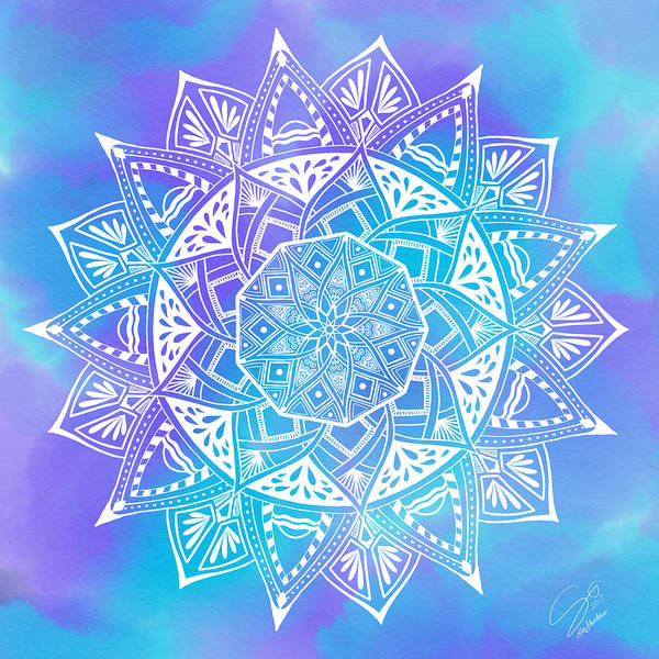 Digital Art - Ocean Breeze Mandala by Lisa Schwaberow