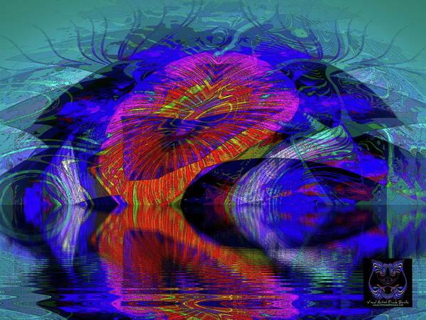 Digital Art - Ocean Cavern by Visual Artist Frank Bonilla
