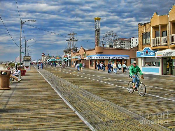 Jersey Photograph - Ocean City Boardwalk by Edward Sobuta