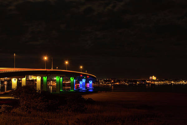 Photograph - Ocean City Bridge - Lit Up For Orlando by Kristia Adams