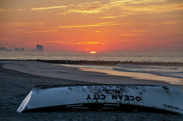 Wall Art - Photograph - Ocean City Life Boat At Sunrise by Bill Cannon