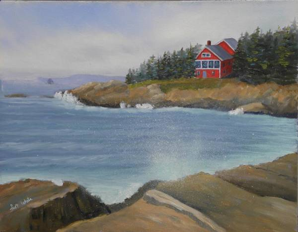 Ocean Cottage Art Print