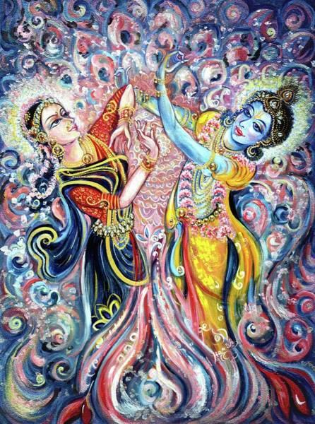 Hindu Goddess Wall Art - Painting - Ocean Dance by Harsh Malik