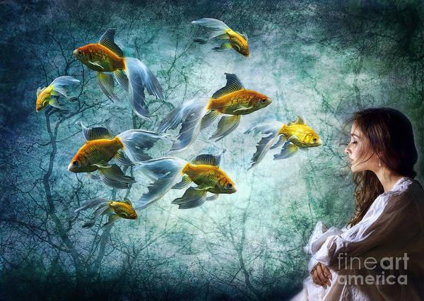Fish Tank Photograph - Ocean Deep Dreaming by Spokenin RED