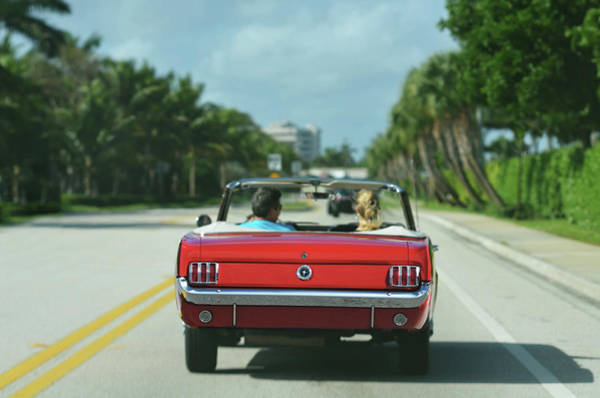 Photograph - Ocean Drive - 1965 Mustang by Laura Fasulo