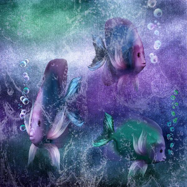 Mixed Media - Ocean Fantasy 3 by Carol Cavalaris