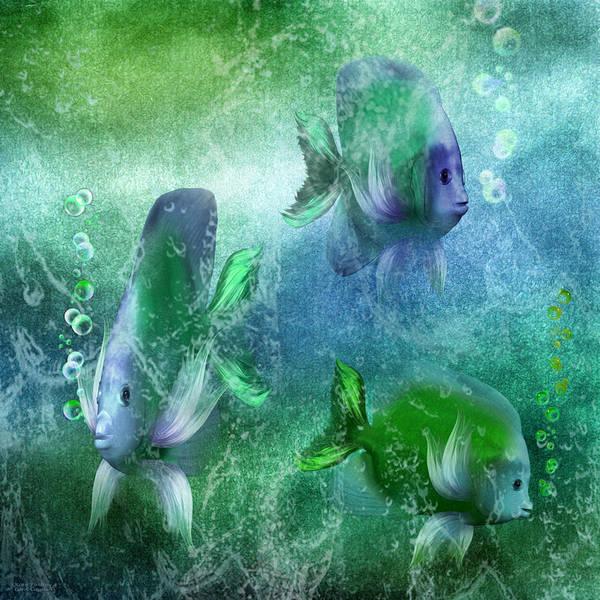 Mixed Media - Ocean Fantasy 4 by Carol Cavalaris