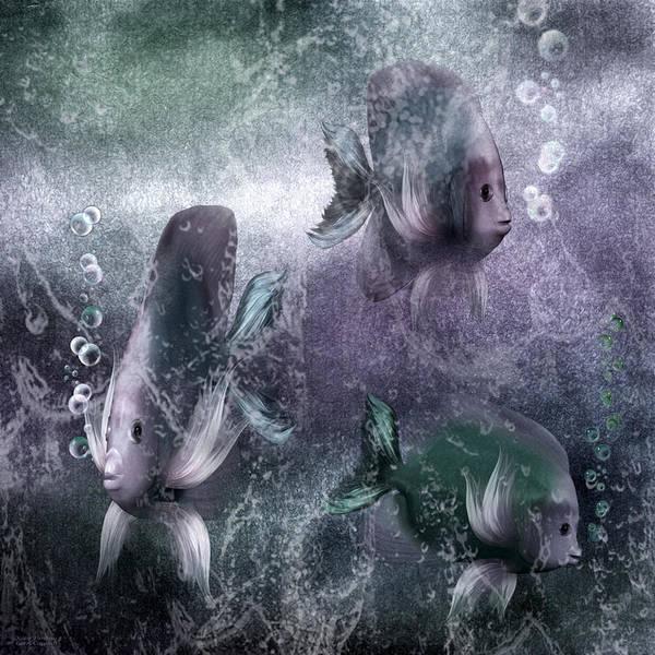 Mixed Media - Ocean Fantasy 5 by Carol Cavalaris