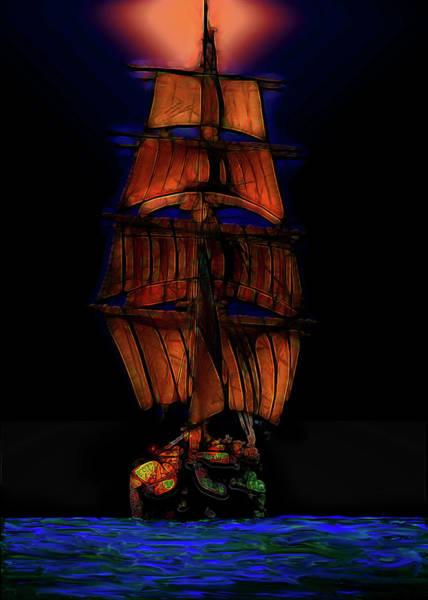Deck Digital Art - Ocean Glow by Michael Cleere