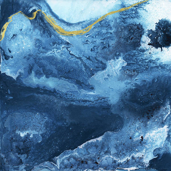 Mixed Media - Ocean Gold- Abstract Art By Linda Woods by Linda Woods