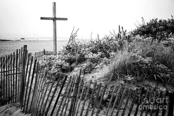 Wall Art - Photograph - Ocean Grove Dune Cross by John Rizzuto