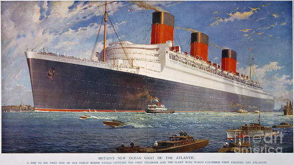 Photograph - Ocean Liner Queen Mary by Granger