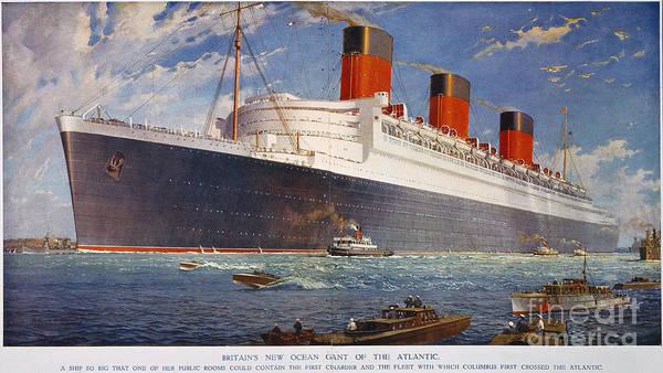 Wall Art - Photograph - Ocean Liner Queen Mary by Granger
