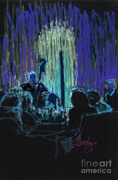 Diners Club Painting - Ocean Lounge Jazz Night by Candace Lovely