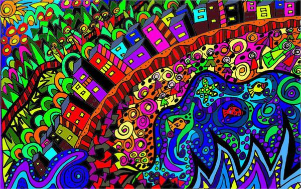 Wall Art - Digital Art - Ocean Meets Hinterland by Karen Elzinga