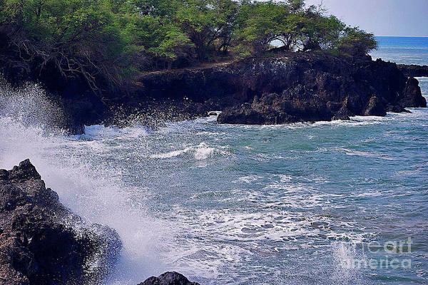 Photograph - Ocean Meets Lava Rock by Bette Phelan
