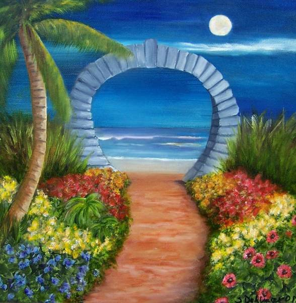 Painting - Ocean Moon Gate Sold by Susan Dehlinger