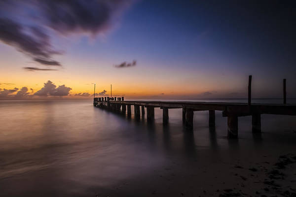Photograph - Ocean Pier At Dusk  by Sven Brogren