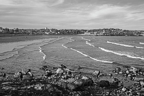 Kings Lynn Wall Art - Photograph - Ocean Ripples On The Lynn Waterfront Lynn Ma From Red Rock Park Black And White by Toby McGuire