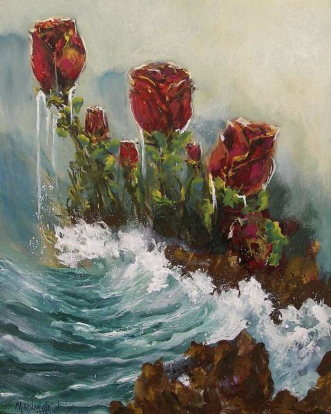 Painting - Ocean Rose by Miroslaw  Chelchowski
