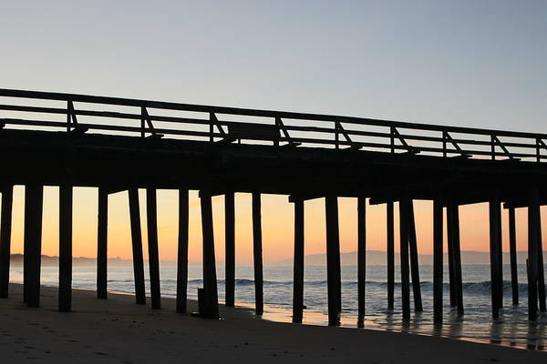 Photograph - Ocean Sunrise At The Pier  by Christy Pooschke
